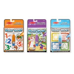 Colors & Shapes, Numbers & Bible Stories Water Wow! Bundle by Melissa & Doug