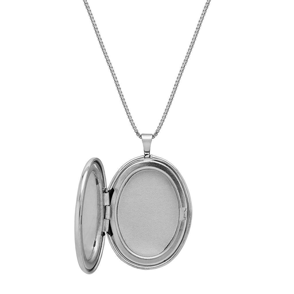Sterling Silver U.S. Army Locket Necklace