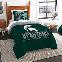 Michigan State Spartans Modern Take Twin Comforter Set by Northwest