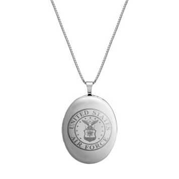 Sterling Silver United States Air Force Locket Necklace