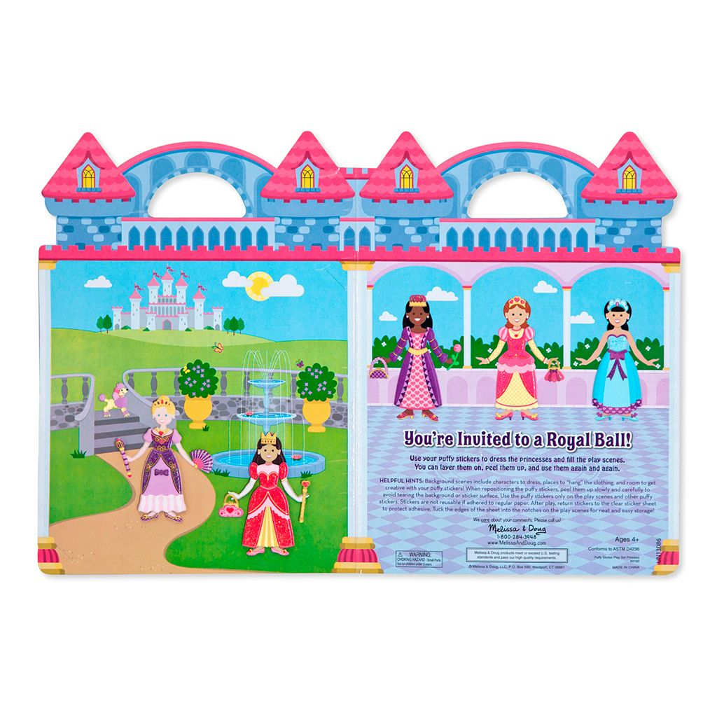 Dress-Up Princess & Mermaid Puffy Sticker Bundle by Melissa & Doug