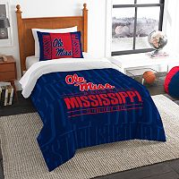 Ole Miss Rebels Modern Take Twin Comforter Set by Northwest