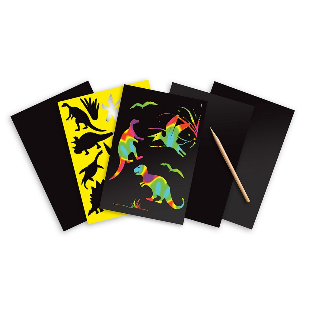 Dinosaur, Sea Life & Rainbow Scratch Art Boards Bundle by Melissa & Doug