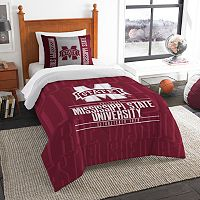 Mississippi State Bulldogs Modern Take Twin Comforter Set by Northwest