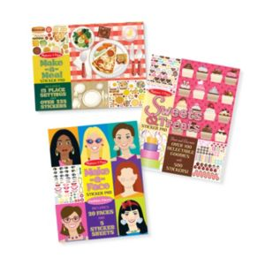 Sweets & Treats, Make-a-Face Fashion and Make-a-Meal Sticker Pad Bundle by Melissa & Doug