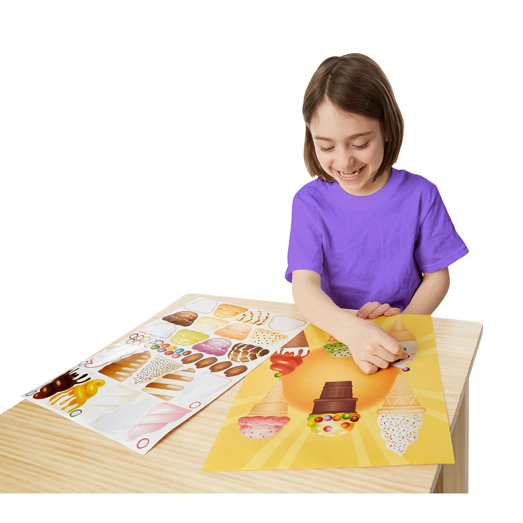 Sweets & Treats, Make-a-Face Fashion and Make-a-Meal Sticker Pad Bundle by Melissa & Doug