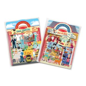 Cool Careers & Pet Place Puffy Sticker Activity Book Bundle