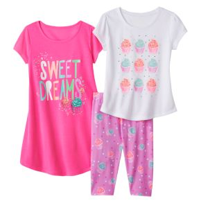 Girls 4-16 SO® Cupcake Pajama Set