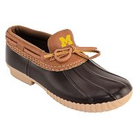 Women's Michigan Wolverines Low Duck Step-In Shoes