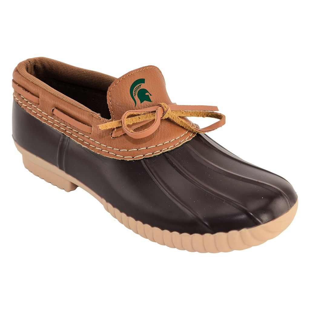 Women's Michigan State Spartans Low Duck Step-In Shoes