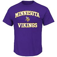 Big & Tall Majestic Minnesota Vikings Heart and Soul II Tee
