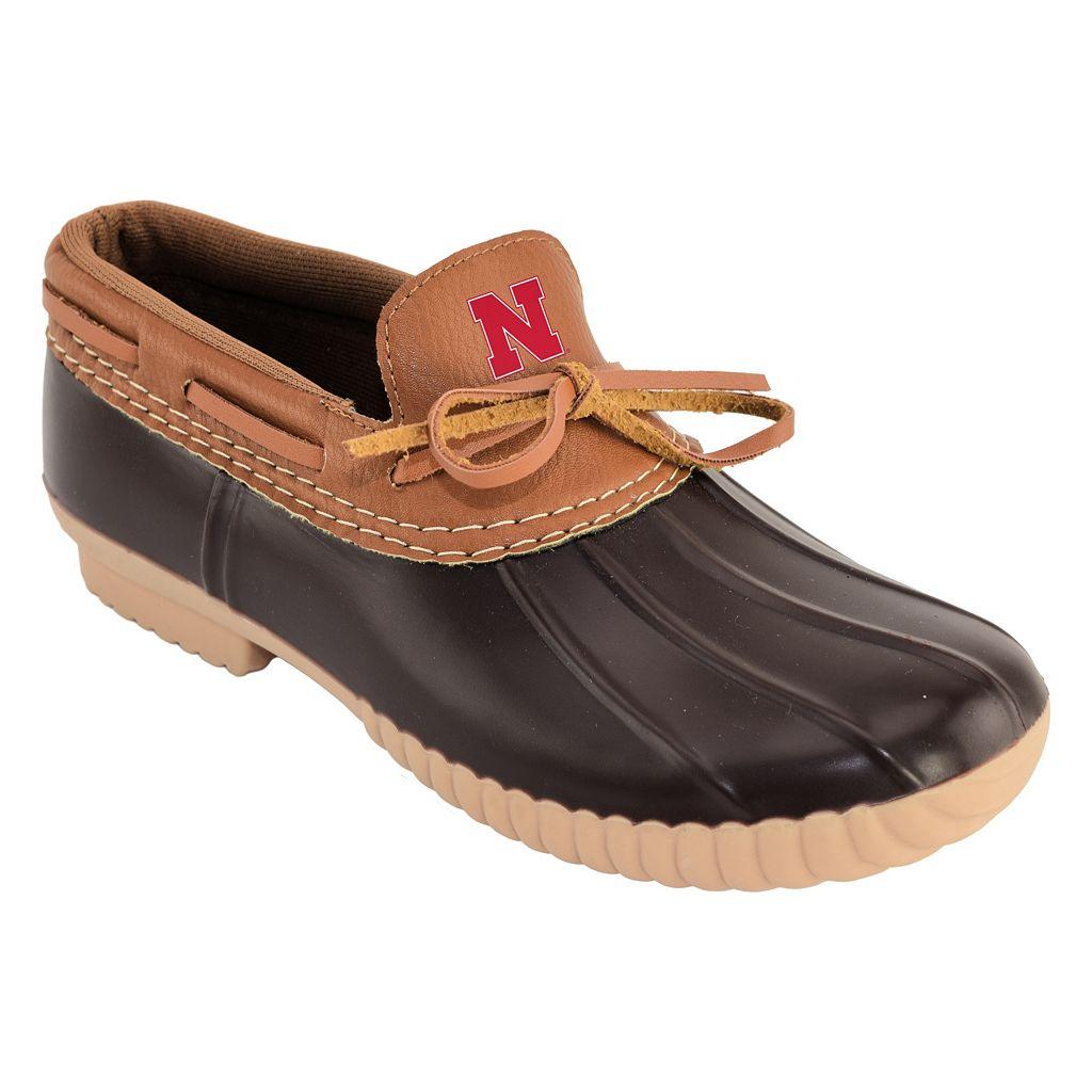 Women's Nebraska Cornhuskers Low Duck Step-In Shoes