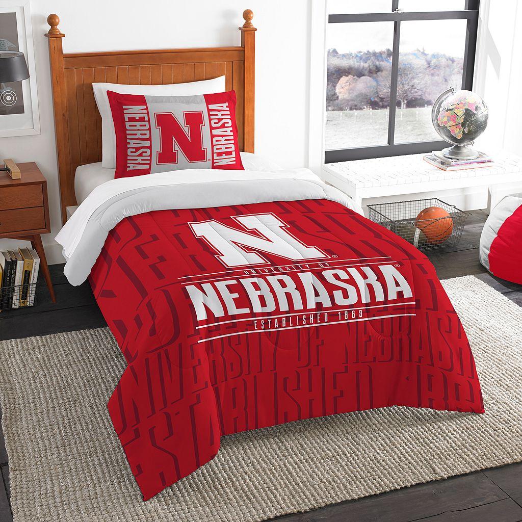 Nebraska Cornhuskers Modern Take Twin Comforter Set by Northwest