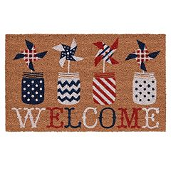 Mohawk® Home ''Welcome'' Pinwheels Coir Doormat - 18'' x 30''