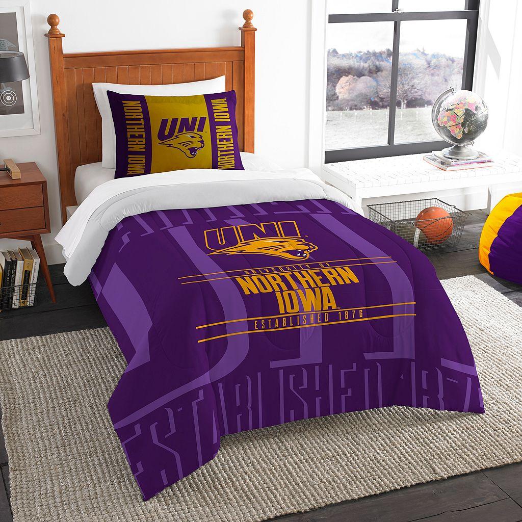Northern Iowa Panthers Modern Take Twin Comforter Set by Northwest