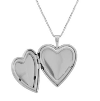 Sterling Silver Crystal Monogram Heart Locket Necklace