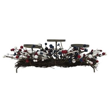 Celebrate Americana Together Faux Berry 3-Pillar Holder