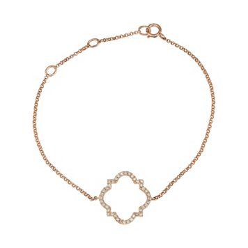 14k Rose Gold 1/5 Carat T.W. Diamond Quatrefoil Bracelet