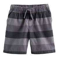 Toddler Boy Jumping Beans® Yarn-Dyed Striped Canvas Shorts