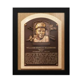 Pittsburgh Pirates Bill Mazeroski Baseball Hall of Fame Framed Plaque Print