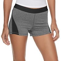 Juniors' SO® Mesh Insert Compression Shorts