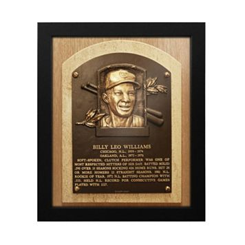 Chicago Cubs Billy Williams Baseball Hall of Fame Framed Plaque Print