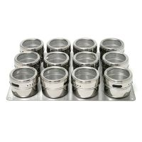 Lipper Soho 12-pc. Stainless Steel Spice Container Set