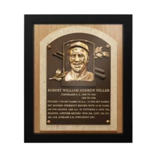 Cleveland Indians Bob Feller Baseball Hall of Fame Framed Plaque Print