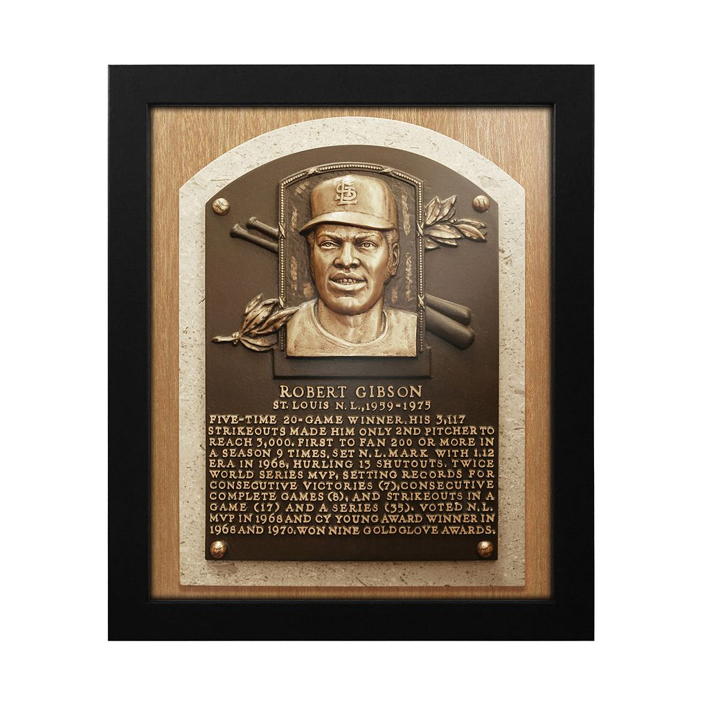 St. Louis Cardinals Bob Gibson Baseball Hall of Fame Framed Plaque Print