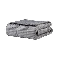 Madison Park Parker Corduroy Plush Down Alternative Throw