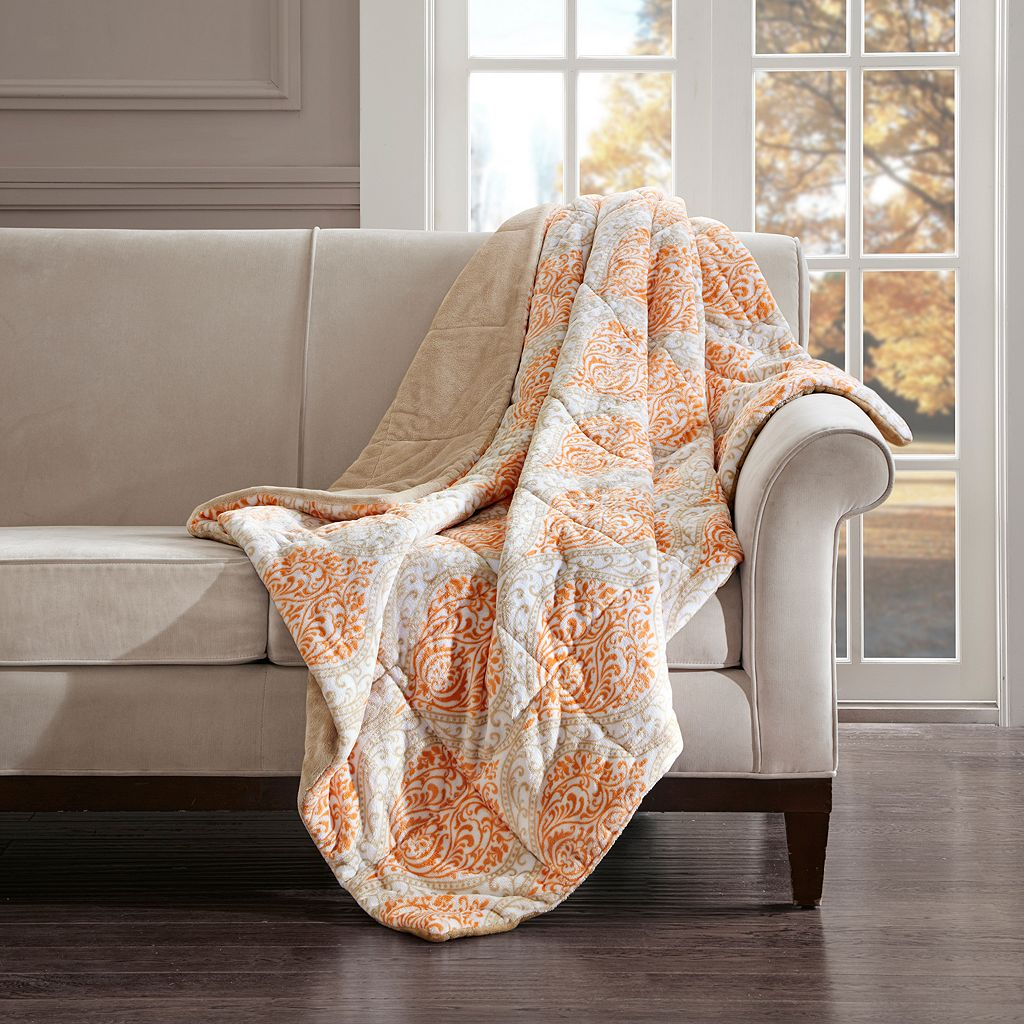 Madison Park Senna Oversized Plush Down Alternative Throw