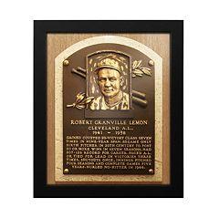 Cleveland Indians Bob Lemon Baseball Hall of Fame Framed Plaque Print