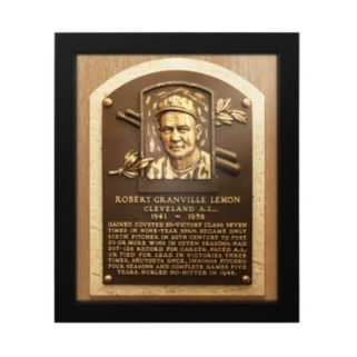 Cleveland Indians Bob Lemon Baseball Hall of Fame Framed Plaque Print