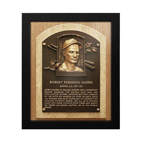 Boston Red Sox Bobby Doerr Baseball Hall of Fame Framed Plaque Print