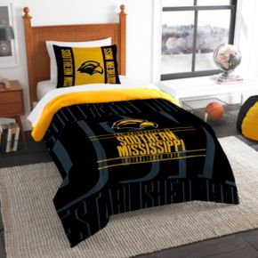 Southern Miss Golden Eagles Modern Take Twin Comforter Set by Northwest