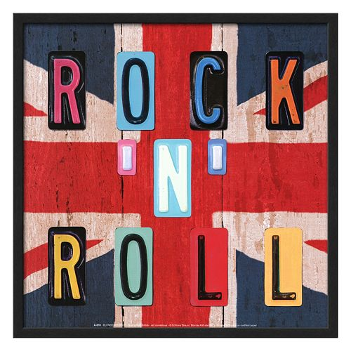 "Art.com ""Rock 'N' Roll"" Framed Wall Art"