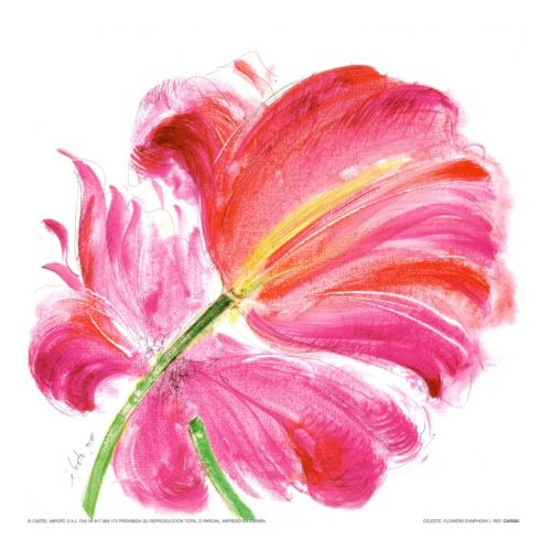 Art.com Flowers Symphony I Wall Art Print