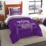 TCU Horned Frogs Modern Take Twin Comforter Set by Northwest