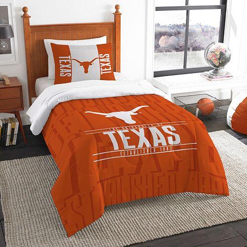 Texas Longhorns Modern Take Twin Comforter Set by Northwest
