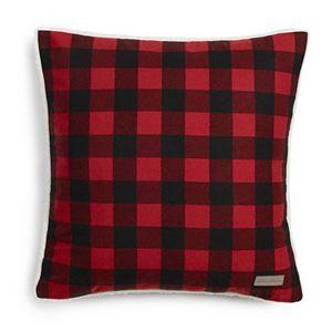 Eddie Bauer Cabin Plaid Flannel Sherpa Throw Pillow