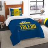 Toledo Rockets Modern Take Twin Comforter Set by Northwest