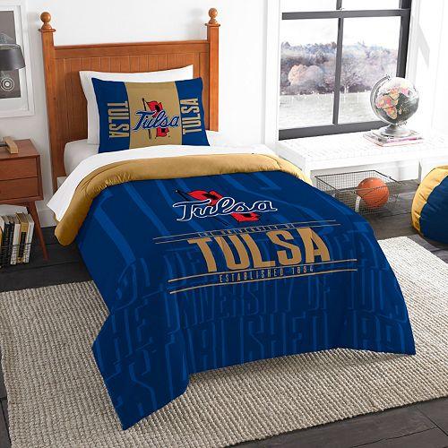 Tulsa Golden Hurricane Modern Take Twin Comforter Set by Northwest