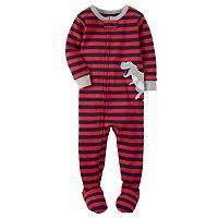 Baby Boy Carter's Striped Applique Footed Pajamas