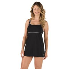 Women's Speedo Piped Swimdress