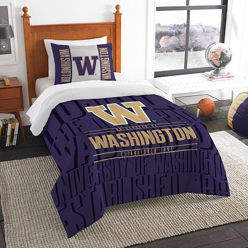 Washington Huskies Modern Take Twin Comforter Set by Northwest