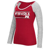 Women's adidas Nebraska Cornhuskers Double Color Tee