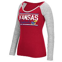 Women's adidas Kansas Jayhawks Double Color Tee