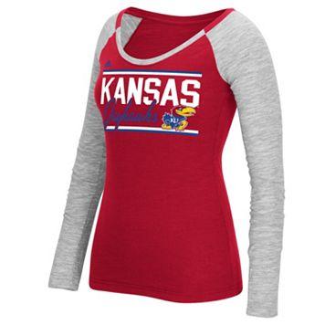Women's adidas Kansas Jayhawks Double Color Tee