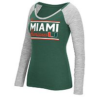 Women's adidas Miami Hurricanes Double Color Tee