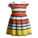 Girls 4-6x Youngland Crochet Lace Striped Dress